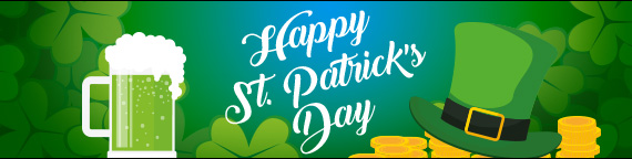 Free Cash Mini-Slot and Match Bonuses for Paddy's Day!