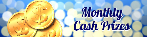 Cash Prizes of up to $120 in June Monthly Draw
