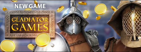 Play new game Gladiator Games with Introductory Bonuses Now